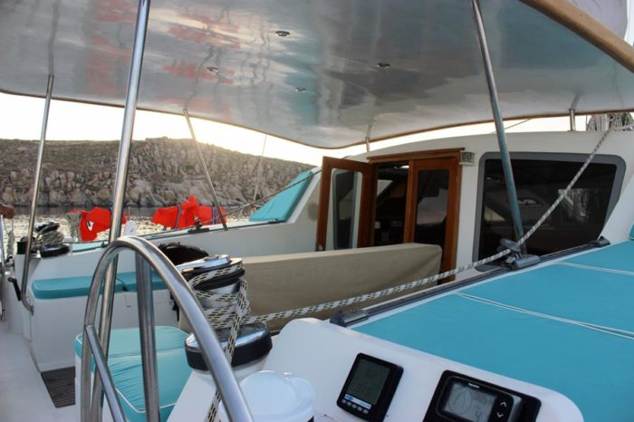 Silver Blue Catamaran